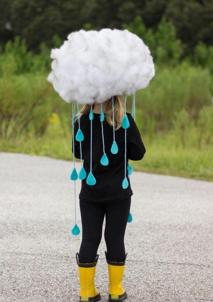 fasching kostüme regenwolke-perücke-watte-regent…