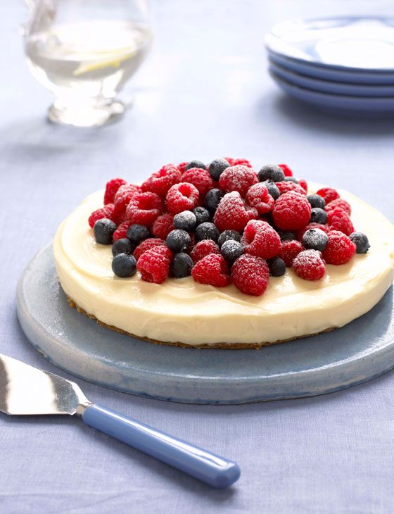 Heavenly Lemon Cheesecake on a Ginger Crust   recipe by Mary Berry of #GBBO via Sainsbury's Magazine