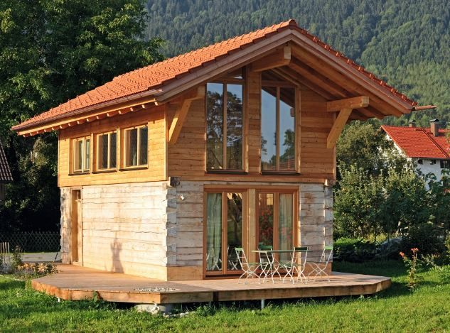 New style of scandinavian mountain cottage timber trails for Minihaus mobil