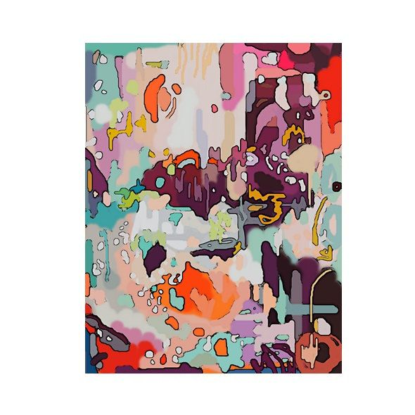 pretty art vancouver abstract artist melissa thorpe purple orange mint peach painting by hilltophausfrau on Etsy