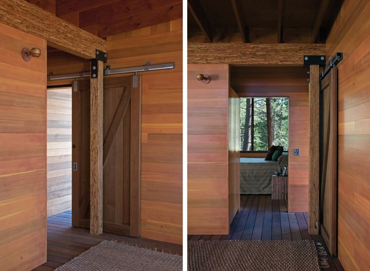 Love that door! Cabin on Flathead Lake | Andersson-Wise Architects