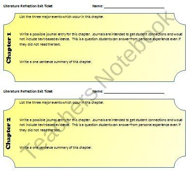 111 best Exit Tickets images on Pinterest Exit slips, Classroom - Exit Ticket Template
