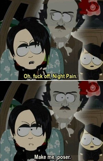 "South Park - Goth Kids and Vamp Kids With ""Night Pain"""