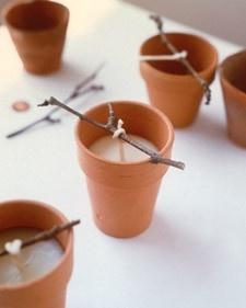 Homemade votive candles: Gifts Ideas, Diy Terra Cotta Pots Ideas, Seedlings Can, Handmade Votive, Votive Candles, Flowers Pots, Diy Gifts, Terracotta Pots Diy, New Crafts