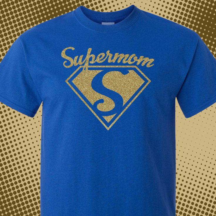 Supermom, Super Mom, Supermom Shirt, Super Mom Shirt, Glitter Gold, Royal, Blue, Superman Mom, Super Mama, Supermom Gold, Glitter, Mom Gift