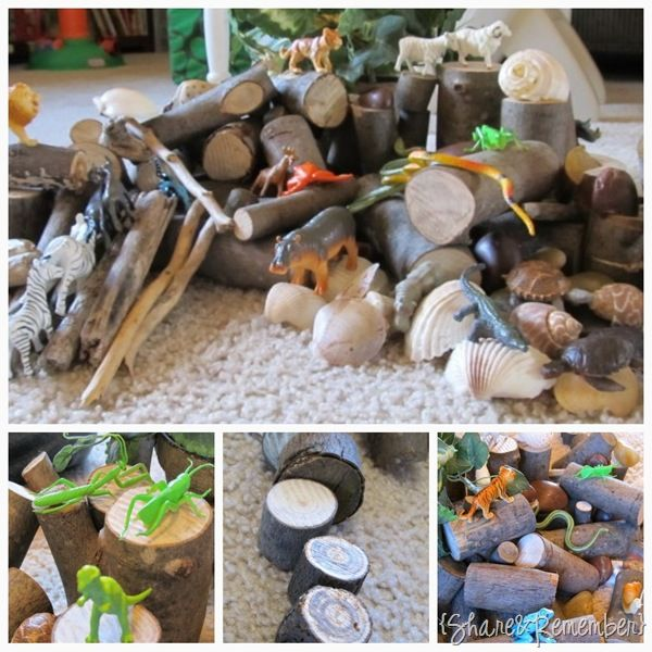 """Enhancing small world play with natural materials ("""",)"""