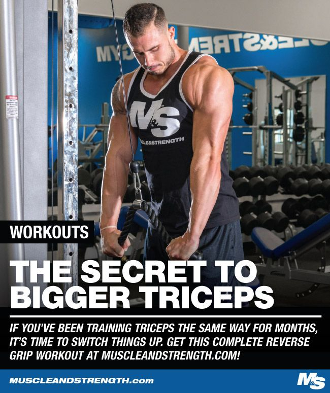 If you've been training triceps the same way for months on end, it might be time to switch things up. Ramp up your gains with this reverse grip workout!