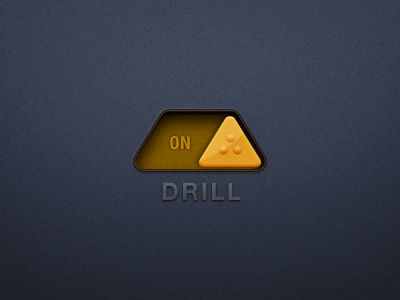 This is a pretty creative ui element, it's definitely not your ordinary white circle slider & to me the ui element itself looks like a construction cone so it makes sense it's a slider for a drill, construction & drill go together, hopefully you get it (; #drill #ui #design #creative #different #beautiful #yellow #pixels