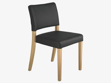 BERGEN BLACKS Faux leather Black dining chair - HabitatUK 115 puntaa