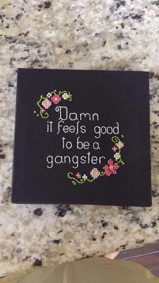 floral rap lyrics cross stitch canvas embroidery
