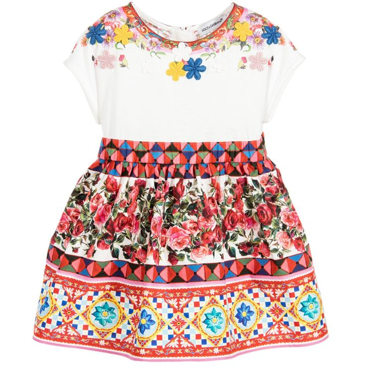 Dolce & Gabbana Baby Girls 'Carretto Con Rose' Dress at Childrensalon.com