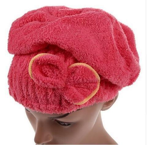 Microfiber quick drying hair wrap
