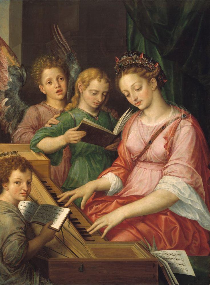 TICMUSart: Santa Cecilia - Michiel I Coxie (1569) (I.M.)