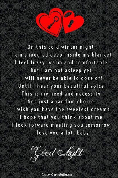 Good Night Poems For Your Boyfriend