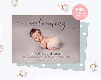 Geburt Ankundigung Vorlage Baby Ankundigung Karte Neugeborenen Ankundigung Geburt Vor Birth Announcement Template Baby Announcement Cards Birth Announcement