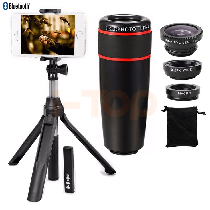 ==> [Free Shipping] Buy Best 10in1 Mobile lens Kit 8X Zoom Telephoto Lenses Telescope Clips Monopod Tripod Bluetooth Shutter Fish eye Wide Angle Macro Lentes Online with LOWEST Price | 32792509503