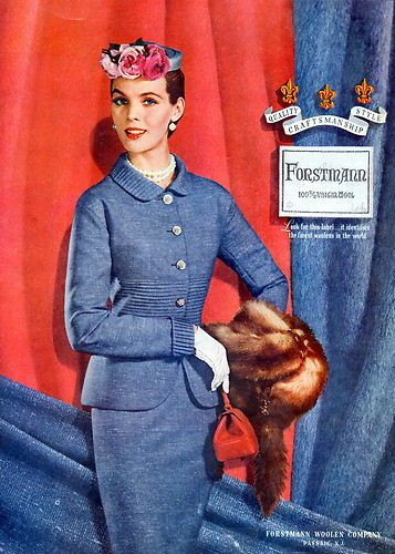 Vintage blue suit elegance from Forstmann (1954). #vintage #1950s #fashion jαɢlαdy