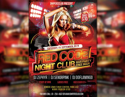 """Check out new work on my @Behance portfolio: """"Red Code Night Club"""" http://be.net/gallery/34643483/Red-Code-Night-Club"""
