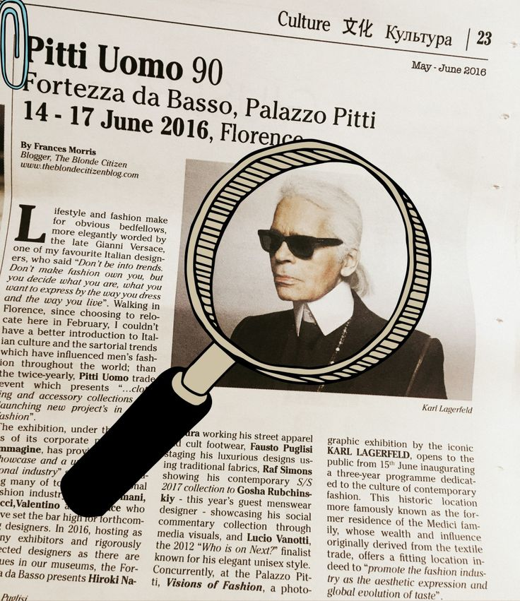A few weeks ago I submitted an article that covered the upcoming fashion event Pitti Uomo 90, to the English newspaper Florence Is You! This was the first time I had ever submitted my own work to s…