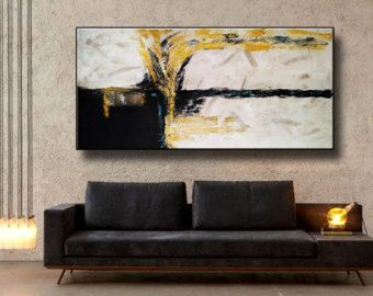 72x48 Set of 3 Original Abstract Acrylic Painting Extra
