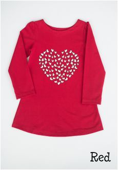 Peekaboo Beans - Queen of Hearts Tunic | playwear for kids on the grow! | Shop at www.peekaboobeans.com