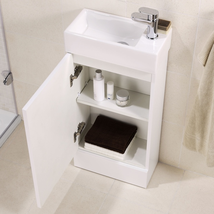 Cheri small vanity unit with ceramic basin, depth 200mm