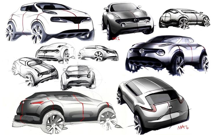 #concept NISSAN JUKE SKETCHES