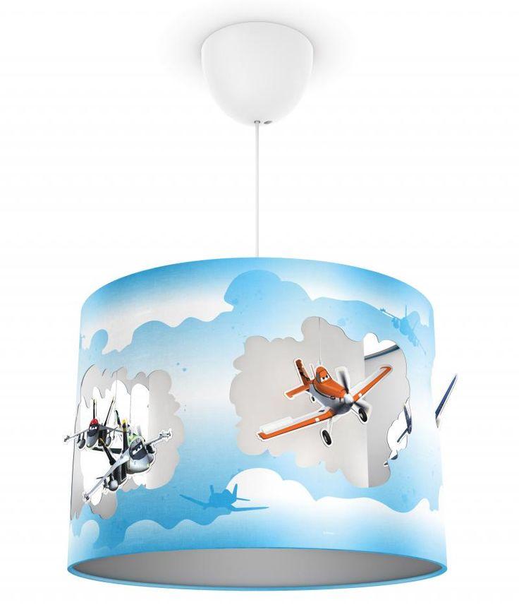 Αεροπλάνα Disney παιδικό φωτιστικό οροφής με διπλό τοίχωμα