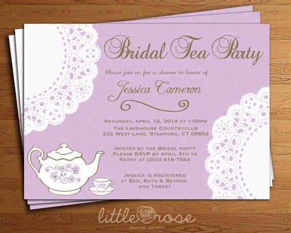 Best 25 Bridal tea invitations ideas – Tea Party Invitations Bridal Shower
