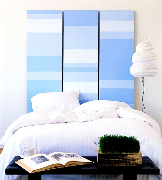 so many color scheme opportunities with this DIY headboard. #diy #headboard