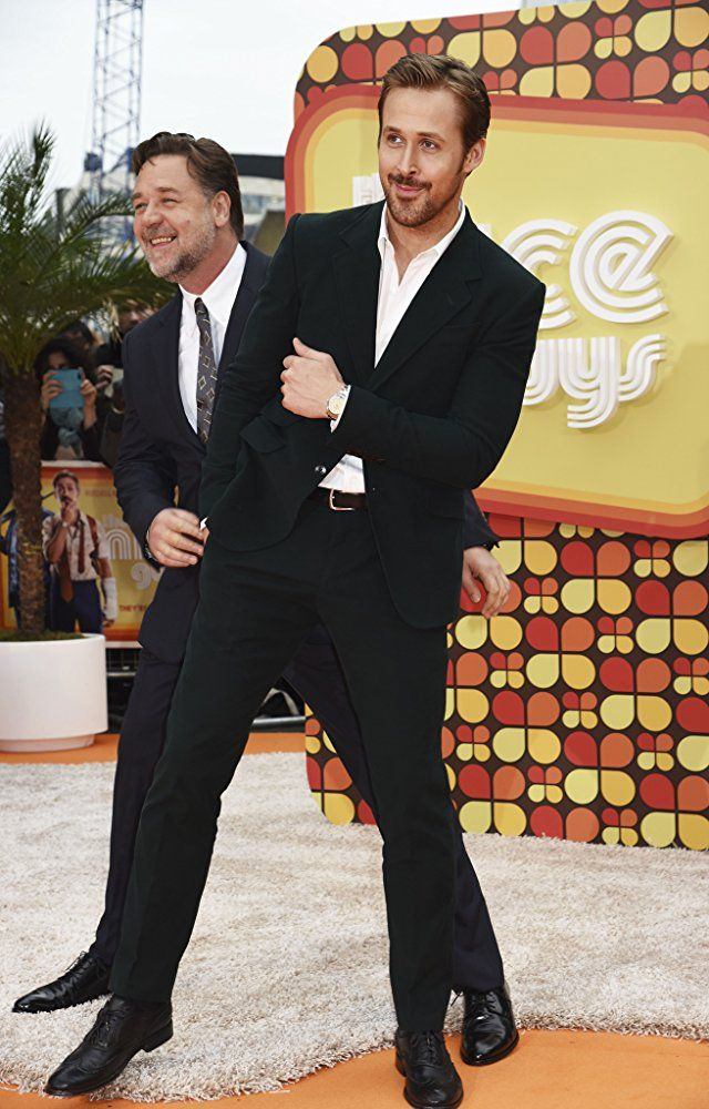 Russell Crowe and Ryan Gosling at an event for The Nice Guys (2016)