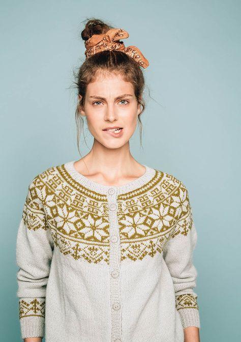 10613be1 knit cardigan pattern from Sandnes garn, Lærdal kofte | knit ...