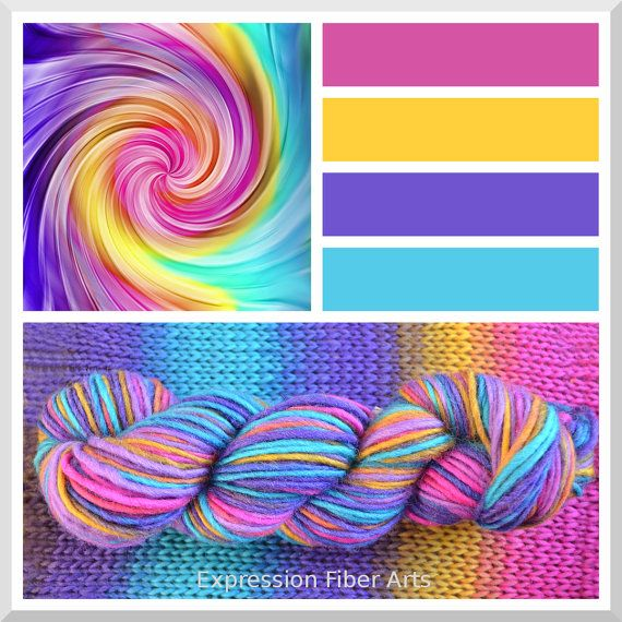 RAINBOW TWIST  Color Shifting Gradient by ExpressionFiberArts, $15.00 ...I just love the colors...