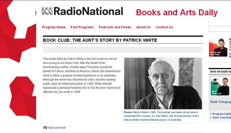 Monthly Discussion Of Australian Classics On Radio National