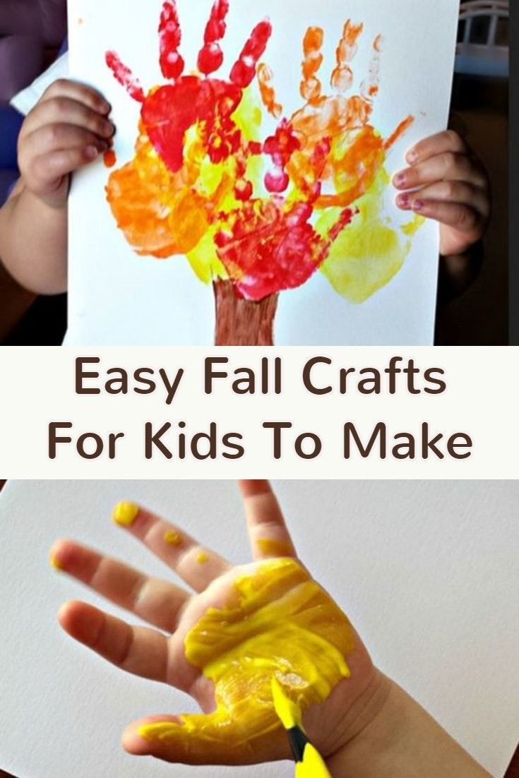 { Fall Crafts for Kids } - Easy Fall Kid Crafts for Preschoolers, Toddlers, Pre-K and More | Crafts and DIY Ideas from Involvery.com ✿ | Pinterest | Fall craft…