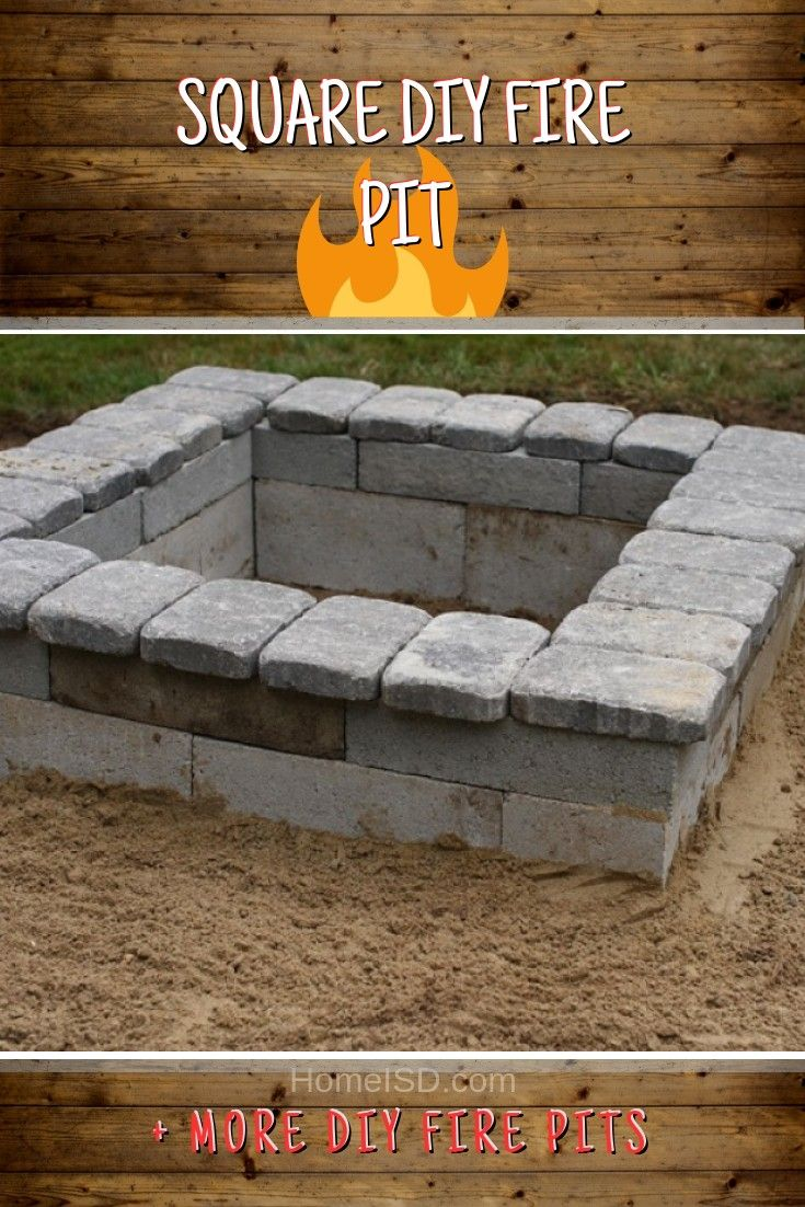 Diy Fire Pit 40 Awesome Project Ideas For Your Best Bbq Diy Fire Pit Fire Pit Fire Pit Backyard Backyard diy square fire pit