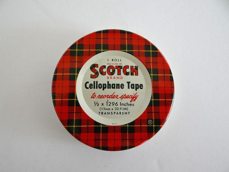 Scotch Brand Cellophane Tape Tin by LilBatsInTheAttic on Etsy