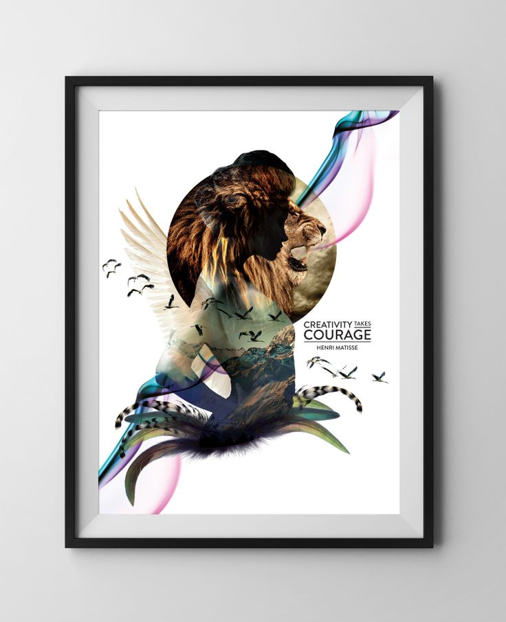 Design Quote IS03 { Creativity Takes Courage } ~ Limited Edition Justus Magazine Poster