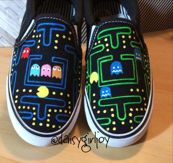 Thank you for visiting my shop, DaisyGirlJoy!    This listing is for custom, hand painted shoes,Slip-on tennis shoes have a canvas upper and a