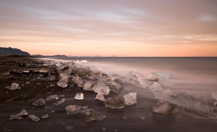 icy beach - Iceland: Beaches Beaches Beaches, Iceland, Photo Seascape, Dream, Seascape Photography, Ici Beaches