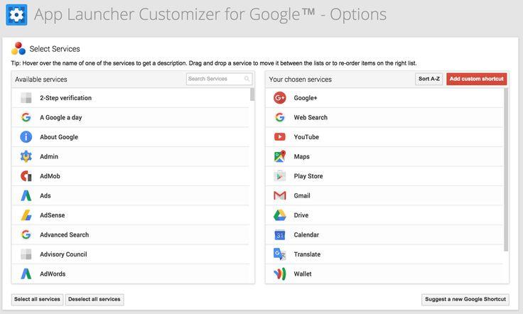 App Launcher Customizer    https://carlosjeurissen.com/app-launcher-customizer