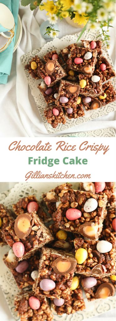 Chocolate Rice Crispy Fridge Cake