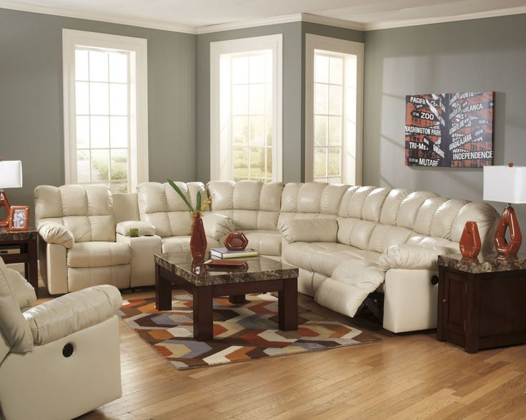 Chaise Lounge Sofa The Kennard Cream Living Room Power Sectional Collection by Signature Design by Ashley Furniture takes stylish contemporary design and bines the