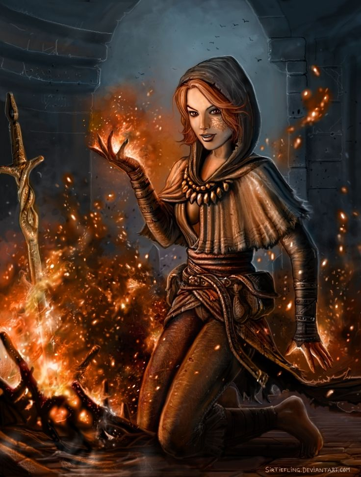 DS Play With Bonfires By SirTieflingdeviantartcom On