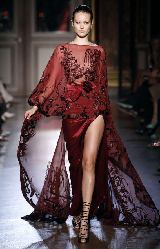 Zuhair Murad F2011-12 HC...I just love the burgundy color!