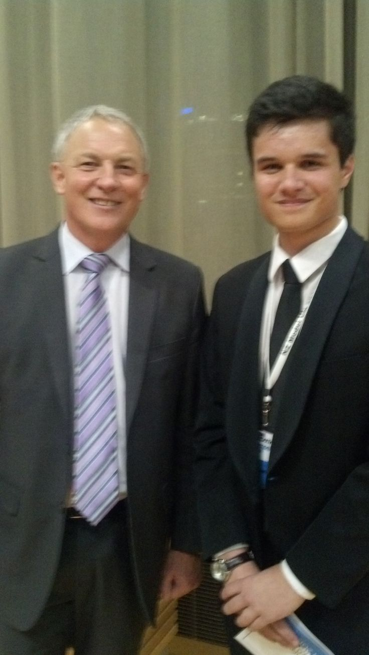 Jacobi Kohu - Morris Youth MP with Phil Goff, Labour MP