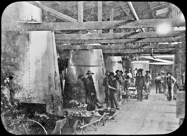 Lead smelting at Broken Hill; weighing & feeding floor, circa 1887. #ThrowbackThursday #smelting #NSW