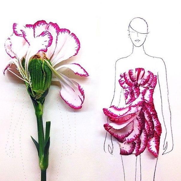 #Grace #Ciao #Style: #fashion #style #flowers #petals #nature #illustrations #loving #salad #moda #stile #clothes #dress #abiti #vestito #insalata #arte #art #design #woman #donna #petali #mode #look #illustrazione #pink #rosa #white #bianco #rouches #minidress #dress #miniskirt #skirt #gonna #minigonna