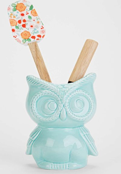 This ceramic Owl Kitchen Canister is perfect for storing cooking utensils, or potting plants. $16. Buy here.