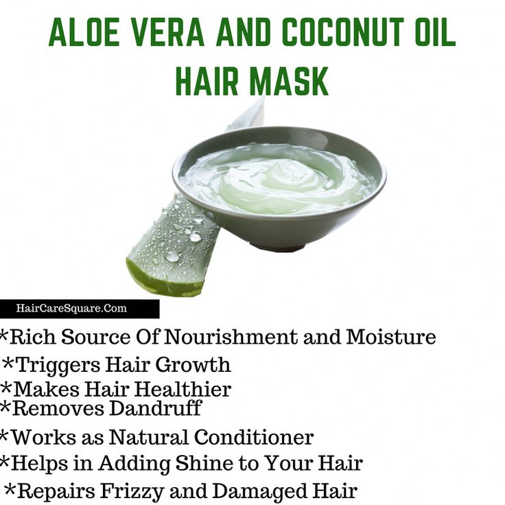 Aloe Vera And Coconut Oil For Hair Growth And Damaged Hair!